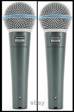 (2) Nouveau Shure Beta 58a Vocal Mics Autorisé Concessionnaire Faire L'offre Acheter Maintenant
