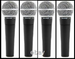 (4) Le Nouveau Distributeur Autorisé Shure Sm58 Vocal Mics & Cables Fait Une Offre Achetez-le Maintenant