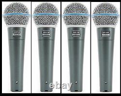 (4) Nouveau Shure Beta 58a Vocal Mics Distributeur Autorisé Faire Offre L'acheter Maintenant