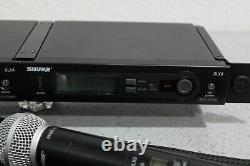 Dual Shure Slx1 Slx2 Slx4 Wireless Handheld & Lav Microphone System J3 572-596
