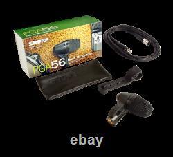 Microphone Snare/tom Avec Pince Et Câble Xlr Shure Pga56