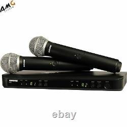 Nouveau Shure Blx288 Dual-channel Handheld Wireless Microphone System Avec 2 Pg58