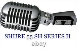 Shure 55 Sh Série II Microphone Vocal Avec 20 Pieds. Câble De Microphone Xlr