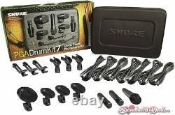 Shure 7 Piece Drum Microphone Kit Recording MIC Bundle Avec Case Pgadrumkit7