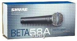 Shure Beta 58a Microphone Dynamique Supercardioïde Avec Néodyme À Haute Sortie