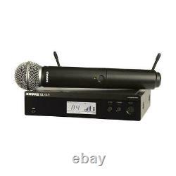 Shure Blx24r/sm58 Système De Microphone Portatif Sans Fil H11 Bande De Garantie Nouveau