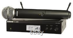 Shure Blx24r/sm58 Wireless Rack Mount System W Sm58 Microphone Vocal Portatif