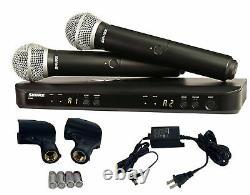 Shure Blx288/pg58 Dual Channel Handheld Vocal Microphone System H9 Nouvelle Garantie