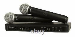 Shure Blx288/pg58 Wireless Dual Vocal System Avec 2 Émetteurs Pg58 MIC H9