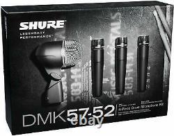 Shure Dmk57-52 Kit Complet De Batterie Microphone Avec Boîtier Upc 0042406081887