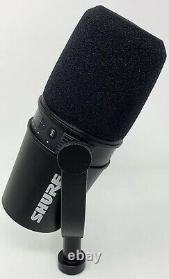 Shure Mv7 Dynamique Unidirectionnel Double Lr/usb Podcasting Microphone Noir
