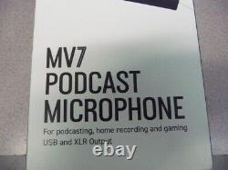 Shure Mv7 Podcast Microphone Nouveau Scellé