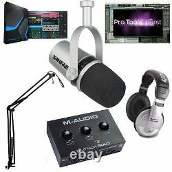Shure Mv7 Ultimate MIC Podcast Bundle Pro Tools 1er & Studio One 5 Prime