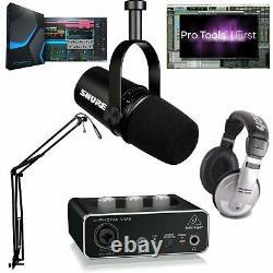 Shure Mv7 Ultimate Pro MIC Podcast Bundle Pro Tools 1er & Studio One 5 Prime