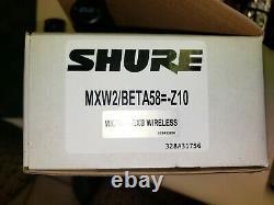 Shure Mxw2/beta58 Transmetteur Portatif Nouveau