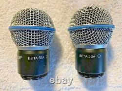 Shure Rpw118 Beta 58a MIC Transmetteur Capsule Pair Utilisé