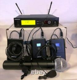 Shure Sans Fil Slx4-h5 Système Récepteur Slx1 Body Pack Avec MIC & 1 Slx2 Portable
