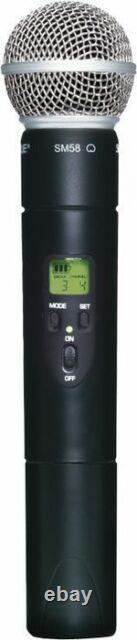 Shure Slx2 Avec Ms58 Microphone Sans Fil Portable MIC H19 542 572 Mhz Meilleure Offre