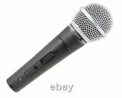 Shure Sm58s Microphone Vocal Dynamique Cardioïde Avec Interrupteur On/off