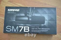 Shure Sm7b Cardioïde Microphone Vocal Dynamic MIC Avec Boîte Et Swag