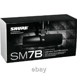 Shure Sm7b Microphone Dynamique Cardioïde Nouvelle Garantie Complète