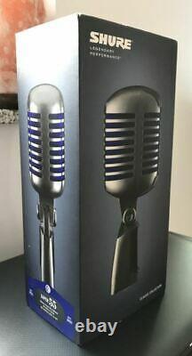 Shure Super 55 Deluxe Dynamic Classic Microphone Vocal Brand Nouveau