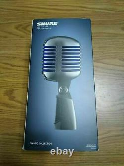 Shure Super 55 Deluxe Retro Dynamic Vocal Microphone Flambant Neuf