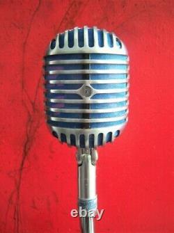 Vintage 1940 Shure 55 Fatboy Dynamique Micro Cardioïde Elvis Déco W Câble