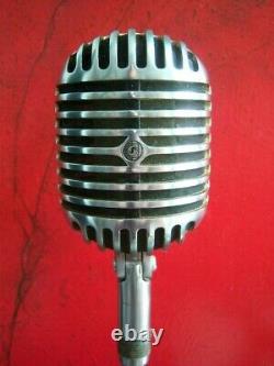 Vintage 1940 Shure 55c Fatboy Dynamique Micro Cardioïde Elvis W Accessoires