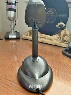 Vintage 1950 Ge-shure CM Microphone Dynamique Avec Support De Bureau Restauré
