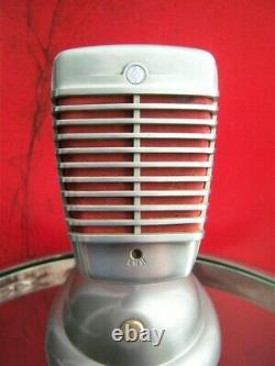 Vintage 1950 Shure 51 Microphone Dynamique High Z & S-36 Stand Nat King Cole