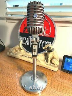 Vintage 1950 Shure 55sw Dynamic Microphone Withdesk Stand / Son Amélioré