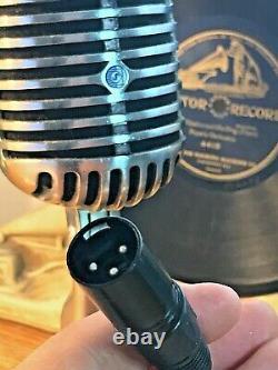 Vintage 1950's Bogen (shure 55) Dynamic Microphone- Bonne Forme Et Son! Fatboy