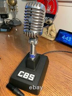 Vintage 1950's Shure 55s Microphone Dynamique- Travailler Avec Le Support Et Le Câble Du Bureau (net)