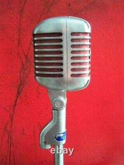 Vintage 1954 Stromberg Carlson Mc-41 Microphone Dynamique Shure 55 S Elvis W Stand