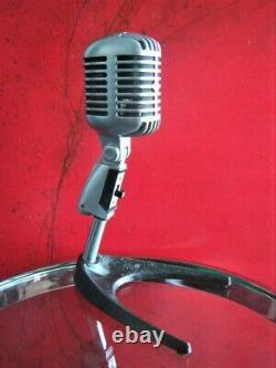 Vintage 1960 Shure 55 S Microphone Cardioïde Dynamique W Période Atlas Ds-14 Stand