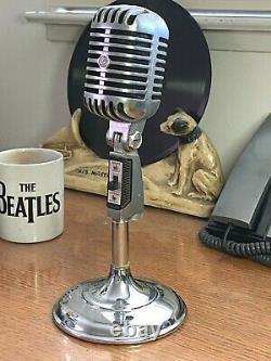 Vintage 1960 Shure 55sw Microphone Fonctionne Fort Avec Élément Dynamique Original