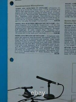 Vintage 1969 Electro Voice 654a Dynamic Microphone & Accessoires Shure USA Works