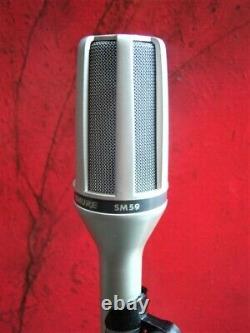Vintage 1980 Shure Sm59 Dynamique Microphone Cardioïde W Accessoires # 2 Sm54