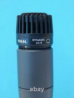 Vintage 1980s Shure Pe66l Dynamic Low Z Microphone Et Accessoires Sm57 Astatique