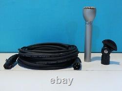 Vintage 1984 Electro Voice 635a Microphone Dynamique Et Accessoires 150 Ohms Shure
