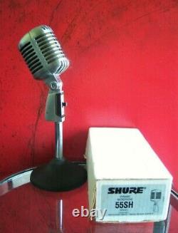 Vintage 1989 Shure 55sh Microphone Cardioïde Dynamique Vieux Elvis W Accessoires # 2