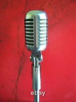 Vintage 2002 Shure 55sh Microphone Cardioïde Dynamique Vieux Elvis W Accessoires # 1