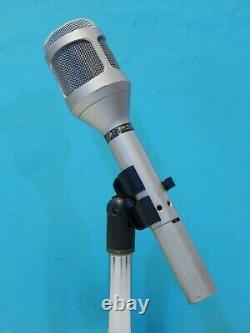 Vintage Années 1980 Shure Sm54 Dynamic Unidirectional Studio Microphone & Accessoires