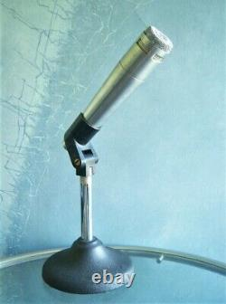 Vintage Rare 1960's Altec Lansing 683un Microphone Cardioide Dynamique Avec Clip Shure