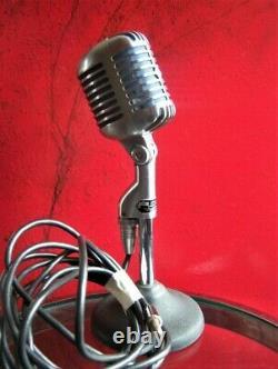 Vintage Rare 1961 Dukane 7a65 / Shure 55 S Microphone Dynamique W Accessoires # 3