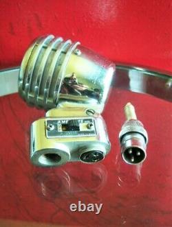 Vintage Rare Années 1940 Amperite Pgh Microphone Dynamique Vieux Connecteur Câble W Shure