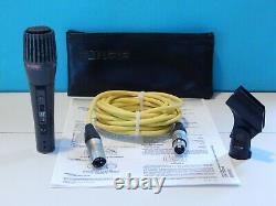 Vintage Rare Shure Pe47l Dynamic Low Z Microphone And Accessories Shure 548 Etats-unis