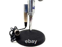 Vintage Shure 556s Unidyne Unidirectionnel Microphone Dynamique USA Avec Stand Clean