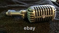 Vintage Shure Microphone Modèle 55s Unidyne Dynamic Non Testé